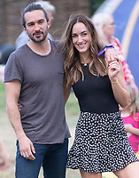 Joe Wicks and wife Rosie  at the Big Feastival 2021 on Alex James' Cotswolds farm, Kingham oxfordshire