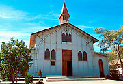 MEXICO, BAJA CALIFORNIA Santa Rosalia with Eiffel church