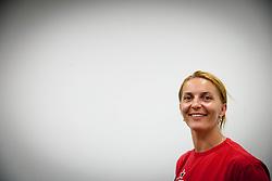 Branka Mijatovic during press conference of RK Krim Mercator before new women handball season 2013/14 on July 30, 2013 in Arena Stozice, Ljubljana, Slovenia.  (Photo by Vid Ponikvar / Sportida.com)