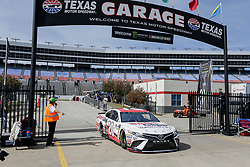 November 2, 2018 - Fort Worth, TX, U.S. - FORT WORTH, TX - NOVEMBER 02: Monster Energy NASCAR Cup Series driver Erik Jones (20) drives through the garage area during practice for the AAA Texas 500 on November 02, 2018 at the Texas Motor Speedway in Fort Worth, Texas. (Photo by Matthew Pearce/Icon Sportswire) (Credit Image: © Matthew Pearce/Icon SMI via ZUMA Press)