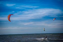 Kite surf na Praia de Cumbuco localizada no município de Caucaia, a 30 km da capital, Fortaleza no estado do Ceará. FOTO: Jefferson Bernardes/ Agência Preview