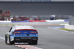 September 27, 2018 - Concord, North Carolina, United States of America - Elliott Sadler (1) races down the back straightaway during practice the Drive for the Cure 200 at Charlotte Motor Speedway in Concord, North Carolina. (Credit Image: © Chris Owens Asp Inc/ASP via ZUMA Wire)
