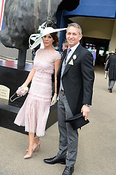 GARY LINEKER and DANIELLE LINEKER at Day 1 of the 2013 Royal Ascot Racing Festival at Ascot Racecourse, Ascot, Berkshire on 18th June 2013.