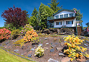 Southeast Alaska.  Wrangell, Private residence with beautiful gardens