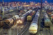 Europe, Germany, Ruhr Area, Hagen, railroad shunting yard in the district Vorhalle, freight trains...Europa, Deutschland, Ruhrgebiet, Hagen, Zugbildungsanlage im Stadtteil Vorhalle, Rangierbahnhof, Gueterzuege..