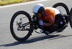 Johan Reekers of Netherlands competes during Men's Individual H 4 Time Trial during Day 8 of the Summer Paralympic Games London 2012 on September 5, 2012, in Brands Hatch circuit near London, Great Britain. (Photo by Vid Ponikvar / Sportida.com)