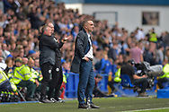 Sheffield Wednesday Manager Carlos Carvalhal looks dejected on the sideline during the EFL Sky Bet Championship match between Sheffield Wednesday and Sheffield Utd at Hillsborough, Sheffield, England on 24 September 2017. Photo by Adam Rivers.