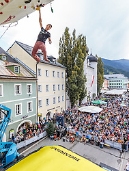 15.08.2016, Hauptplatz, Lienz, AUT, Free Solo Masters, im Bild Sergii Topishko (UKR) // Sergii Topishko (UKR) during the Free Solo Masters at the Hauptplatz in Lienz, Austria on 2016/08/15. EXPA Pictures © 2016, PhotoCredit: EXPA/ JFK