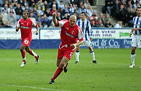 Photo: Paul Thomas.<br /> Huddersfield Town v Swindon Town. Coca Cola League 1. 29/10/2005. <br /> <br /> Swindon's Andy Gurney celebrates his goal.