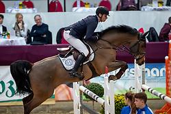 WOLF Cedric (GER), Louisville<br /> Neustadt-Dosse - CSI 2019<br /> Youngster Tour Finale 8jährige Pferde<br /> 13. Januar 2019<br /> © www.sportfotos-lafrentz.de/Stefan Lafrentz