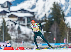 24.02.2019, Seefeld, AUT, FIS Weltmeisterschaften Ski Nordisch, Seefeld 2019, Nordischen Kombination, Teambewerb, Langlauf, im Bild Eric Frenzel (GER) // Eric Frenzel of Germany during the cross country for the team competition Nordic Combined of FIS Nordic Ski World Championships 2019 at the Seefeld, Austria on 2019/02/24. EXPA Pictures © 2019, PhotoCredit: EXPA/ Stefan Adelsberger