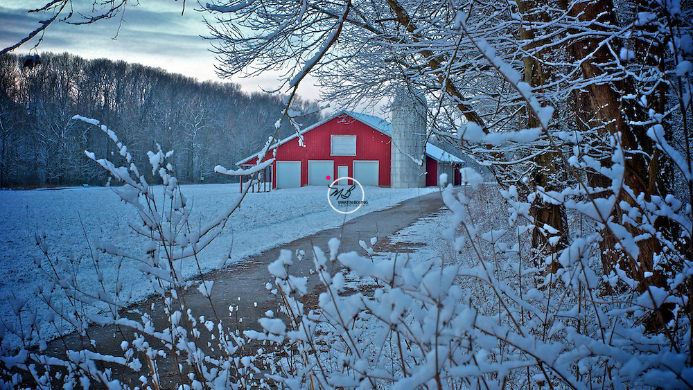 Red Barn Snow No. 1