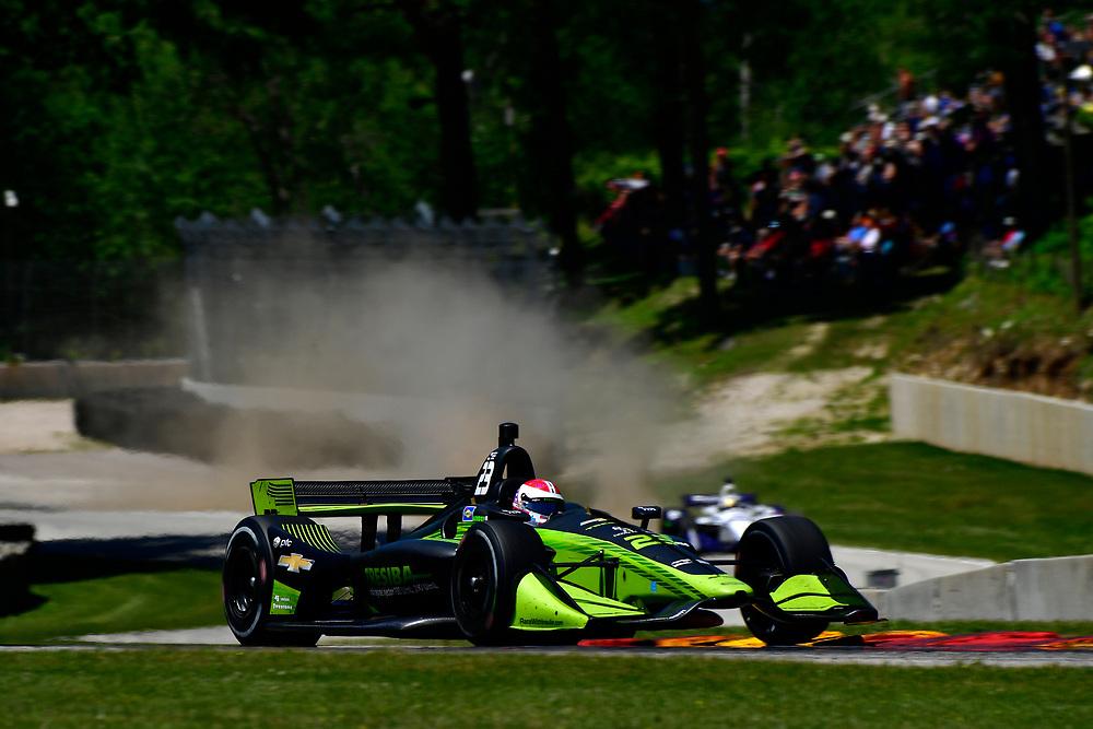 Charlie Kimball, Carlin Chevrolet<br /> Sunday 24 June 2018<br /> KOHLER Grand Prix at Road America<br /> Verizon IndyCar Series<br /> Road America WI USA<br /> World Copyright: Scott R LePage