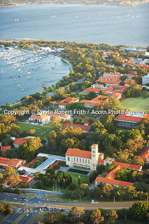The University of Western Australia (UWA) and Matilda Bay on the Swan River Perth Region