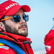 Cardiff stopover. Practice race on board MAPFRE. 06 June, 2018.