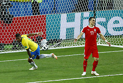 June 27, 2018 - Moscow, Russia - Group E Serbia v Brazil - FIFA World Cup Russia 2018.Paulinho (Brazil) after scoring the goal of 0-1 at Spartak Stadium in Moscow, Russia on June 27, 2018. (Credit Image: © Matteo Ciambelli/NurPhoto via ZUMA Press)