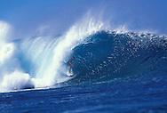 Surfer in tube, Pipeline, North Shore, Oahu, Hawaii.