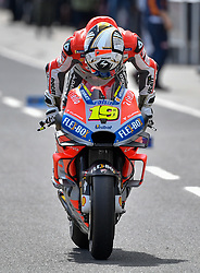 October 26, 2018 - Melbourne, Victoria, Australia - Spanish rider Alvaro Bautista (#19) of Ducati Team extiting pit lane during day 2 of the 2018 Australian MotoGP held at Phillip Island, Australia. (Credit Image: © Theo Karanikos/ZUMA Wire)
