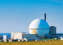 View of Dounreay nuclear power station in northern Scotland, now being decommissioned.