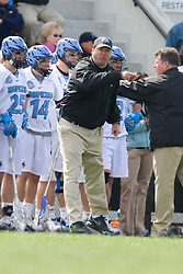 29 March 2008: Johns Hopkins Blue Jays head coach Dave Pietramala during a 13-8 loss to the North Carolina Tar Heels on Homewood Field in Baltimore, MD.