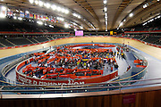 UK, August 6 2012: View of the middle of the Velodrome on Day 10 of the London 2012 Olympic Games. Copyright 2012 Peter Horrell.