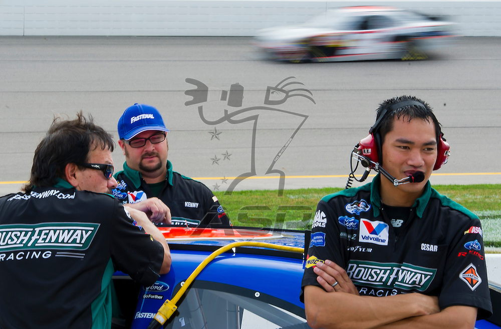NEWTON, IA - July 04, 2012: during qualifying for the U.S. Cellular 250 race at Iowa Speedway in Newton, IA.