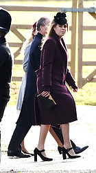 Princess Beatrice arriving to attend the morning church service at St Mary Magdalene Church in Sandringham, Norfolk.