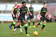 Forest Green Rovers Reece Brown(10) runs forward during the EFL Sky Bet League 2 match between Stevenage and Forest Green Rovers at the Lamex Stadium, Stevenage, England on 26 January 2019.