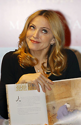 File photo dated 11/11/2004 of Madonna, during a special appearance at Selfridges in Oxford Street, central London to sign copies of her fourth children's book, 'The Adventures of Abdi'. The pop superstar will celebrate her 60th birthday on Thursday, following a long career of reinvention and controversy.