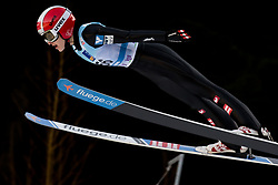 February 7, 2019 - Ljubno, Savinjska, Slovenia - Eva Pinkelnig of Austria competes on qualification day of the FIS Ski Jumping World Cup Ladies Ljubno on February 7, 2019 in Ljubno, Slovenia. (Credit Image: © Rok Rakun/Pacific Press via ZUMA Wire)