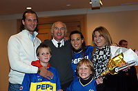 14/12/03 - YOKOHAMA - JAPAN - TOYOTA INTERCO<br />BOCA Jrs. CHAMPIONSHIP CELEBRATION INSIDE THE YOKOHAMA SHERATON HOTEL.<br />From left to right = Boca Translator / CLEMENTE Here BOCA JRs. head coach CARLOS BIANCHI with his family.<br />© Str./ Piko-Press / Argenpress.com