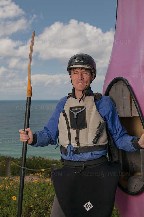 """Portrait of kayaker, author and neuroscientist James """"Rocky"""" Contos.  Photo © Robert Zaleski / rzcreative.com<br /> —<br /> To license this image contact: robert@rzcreative.com"""