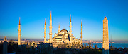 The Blue Mosque, Sultanahmet Camii or Sultan Ahmed Mosque,  in Istanbul, Republic of Turkey
