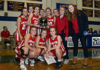 The Laconia girls win the finals against Gilford Friday evening during the 44th annual holiday basketball tournament.  (Karen Bobotas/for the Laconia Daily Sun)