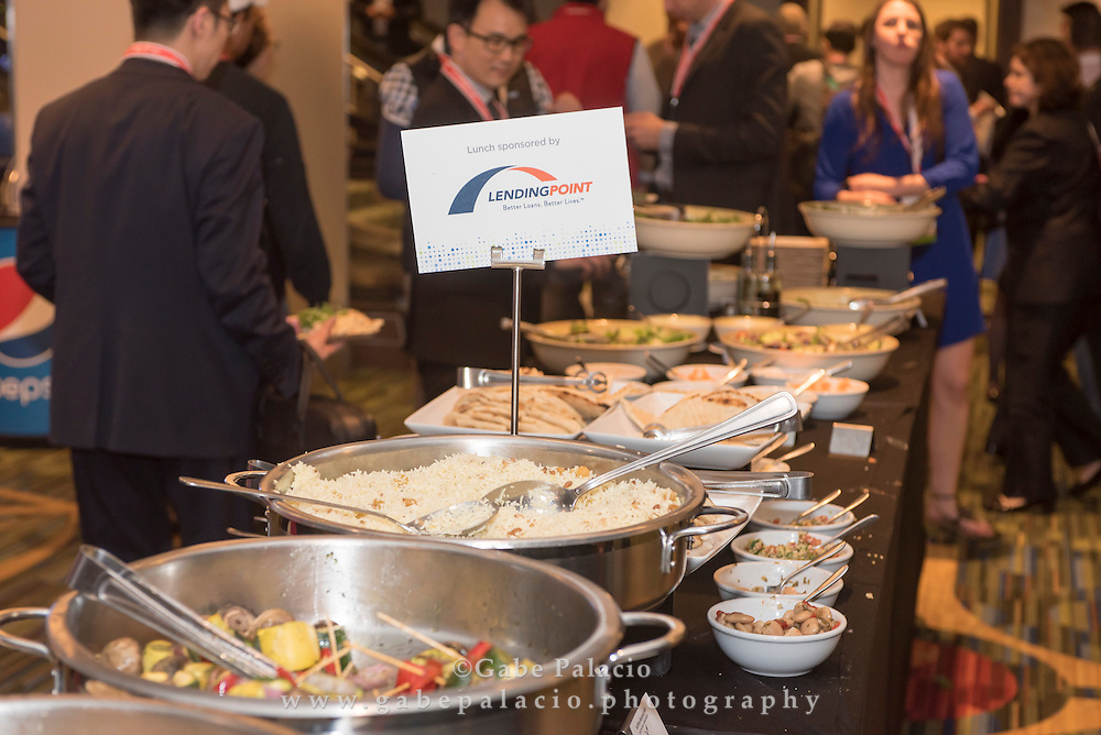 Lending Point sponsored Lunch break at LendIt USA 2016 conference in San Francisco, California, USA on April 11, 2016. (photo by Gabe Palacio)