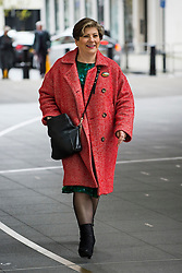 © Licensed to London News Pictures. 17/01/2016. London, UK. Labour Shadow Secretary of State for Defence EMILY THORNBERRY arrives at BBC Broadcasting House in London. Photo credit: Ben Cawthra/LNP
