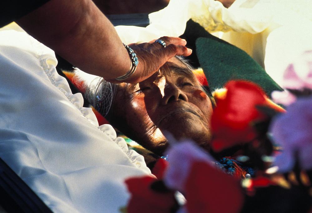 Marie Lehi, San Juan Southern Paiute Tribe funeral, Tuba City, Arizona
