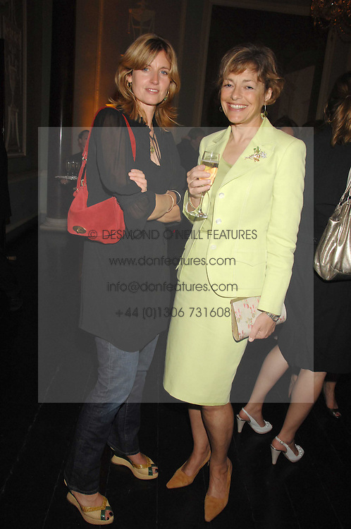 Left to right, ARABELLA MACMILLAN and FLORA SOROS at the Tatler magazine Summer Party, Home House, Portman Square, London W1 on 27th June 2007.<br /><br />NON EXCLUSIVE - WORLD RIGHTS