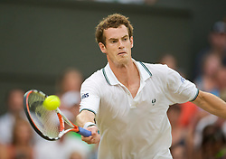 LONDON, ENGLAND - Monday, June 29, 2009: Andy Murray (GBR) during the Gentlemen's Singles 4th Round match on day seven of the Wimbledon Lawn Tennis Championships at the All England Lawn Tennis and Croquet Club. (Pic by David Rawcliffe/Propaganda)
