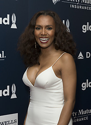 May 6, 2017 - New York, United States - Janet Mock wearing dress by Christian Siriano attends 28th Annual GLAAD media awards at Hilton Midtown hotel in New York (Credit Image: © Lev Radin/Pacific Press via ZUMA Wire)