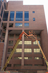 Roof Replacement and Masonry Repairs.  New Haven County Courthouse.  Project No: BI-JD-316A..Architect: Wiss, Janney, Elstner Associates, Inc.    Contractor: Silktown Roofing, Manchester CT..James R Anderson Photography   New Haven CT   photog.com.Date of Photograph: 11 August 2011.Camera View: