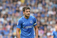 Portsmouth Midfielder, Gareth Evans (26) who missed a penalty during the EFL Sky Bet League 1 match between Portsmouth and Oxford United at Fratton Park, Portsmouth, England on 18 August 2018.