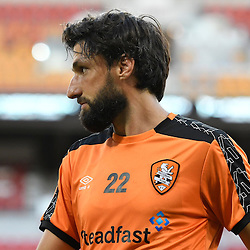 BRISBANE, AUSTRALIA - JANUARY 28: Thomas Broich of the Roar warms up during the round 17 Hyundai A-League match between the Brisbane Roar and Western Sydney Wanderers at Suncorp Stadium on January 28, 2017 in Brisbane, Australia. (Photo by Patrick Kearney/Brisbane Roar)