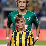 Bursaspor's Hajime Hosogai during their Turkish super league soccer match Fenerbahce between Bursaspor at the Sukru Saracaoglu stadium in Istanbul Turkey on Sunday 20 September 2015. Photo by Aykut AKICI/TURKPIX
