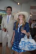 STEFANO SUTTER; EMELIE SUTTER, Glorious Goodwood. Thursday.  Sussex. 3 August 2013