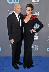 Patrick Stewart and Sunny Ozell at The 23rd Annual Critics' Choice Awards held at the Barker Hangar on January 11, 2018 in Santa Monica, CA, USA (Photo by Sthanlee B. Mirador/Sipa USA)