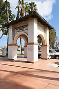 Santa Ana Train Station Exterior Address Signage