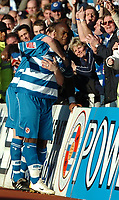 Photo: Ed Godden.<br />Reading v Preston North End. Coca Cola Championship. 25/02/2006. Reading's Leroy Lita celebrates scoring.