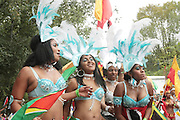 September 3, 2012- Brooklyn, New York:  Parade Participant attends the 45th Annual West Indian Day Labor Day Celebration held on September 3, 2012 along Brooklyn's famed Eastern Parkway. It's one of New York City's most popular parades, a cultural festival that celebrates West Indian history, culture, music and food. Attended by as many as two million people. (Photo by Terrence Jennings)