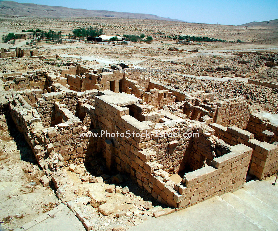 The House of Affluent at Mamshit. Mamshit is the Nabatean city of Memphis. In the Nabatean period, Mamshit was important because it sat on the route from the Idumean Mountains to the Arava, continued on to Beersheva or to Hebron and Jerusalem. The city covers ten acres and is the smallest but best restored city in the Negev Desert. The once-luxurious houses have unusual architecture not found in any other Nabatean city.
